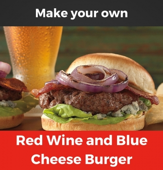 Red Wine and Blue Cheese Burgers