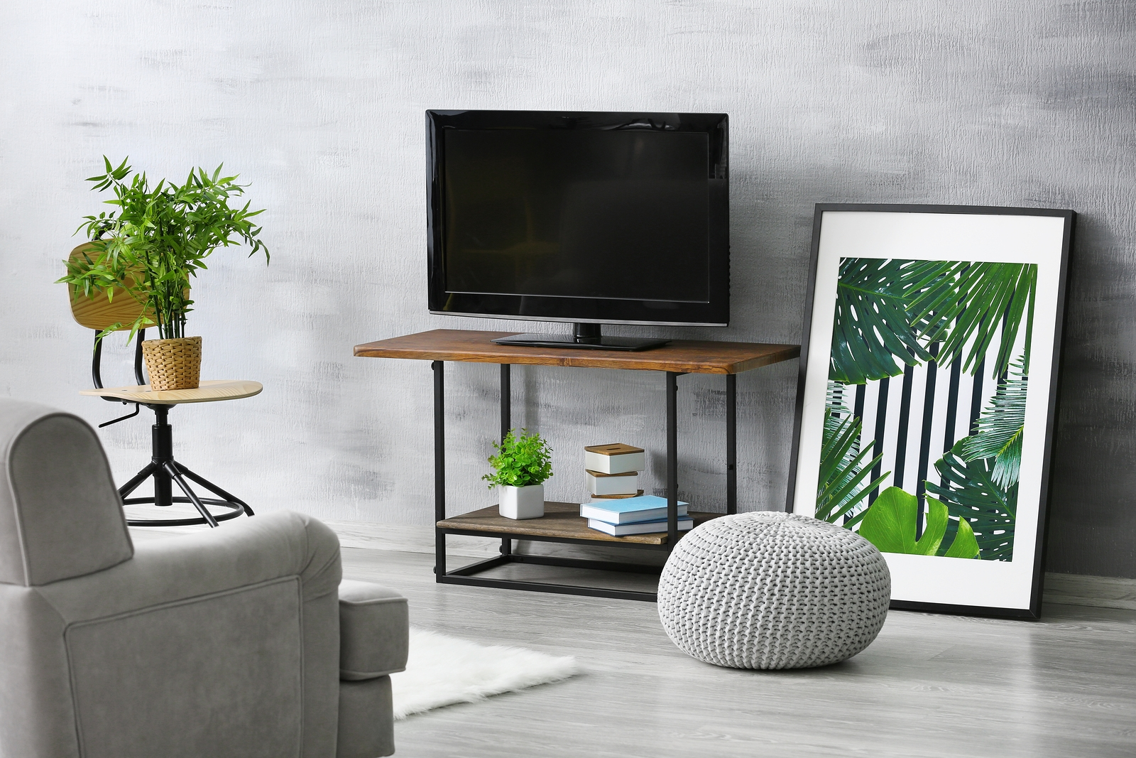 bigstock-Modern-TV-set-on-stand-in-livi-213352948